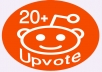 Instant 20+ World wide reddit upvote within 6 Hours