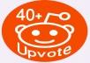 Fast 40+ Real People Worldwide Reddit Upvotes