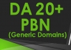 [RELAUNCHED] Create 6 DA 20-30+ Guaranteed Homepage PBN Post Backlinks