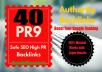 Build 40 PR9 DA 70-100 SEO Backlinks High Trust Authority Domain Permanent Links SERP Results