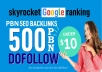 Create 500 Super Web 2.0 Blogs and post dofollow baclinks  With Login details