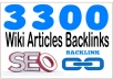 Boost Site Alexa Rank with 3300+ Wiki articles contextual  Backlinks