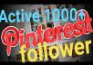 Provide active 100+ real pinterest follower