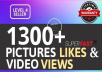 Add 1300+ High Quality Likes OR Views