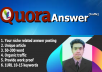High  Quality Quora Answer posting Backlinks