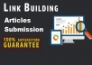 Get 5000 Article directories contextual backlinks