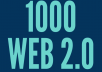 Global Rank Booster 1000 SEO Web 2.0 Sites Backlinks for Your Website or Store