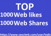 2,000 Social Signals White Hat SEO Backlinks Rank on TOP 1 Social Media