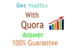 Get tergeted traffic with 10 high quality Quora Answer Backlinks