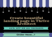 Create beautiful landing page in Thrive Architect