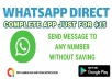 """I will create app : """"Whatsapp Direct"""" - Send message to unsaved contact"""