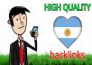 12 Quality forum backlinks Argentina
