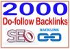 Do 2000 Do-follow Backlinks- Highly Authorized Google Dominating Backlinks
