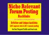do forum posting niche forum post quality forum backlinks