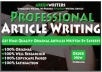 I  Handle Your Blog Writing, Web Content, SEO Article Writing
