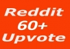 Real World Wide 60  upvote on Reddit post or Comment