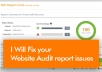 Fix your Site Audit Report Issues
