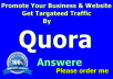 Promote Your Website With 25 High Quality Quora Answer Backlinks