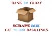 do a scrapebox blast of 70 000 guaranteed blog comment backlinks, unlimited urls/keywords allowed