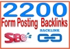 Rank on Google Alexa by exclusive manually 2200 + forum posting  Backlinks