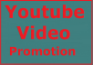 Organic Youtube video promotion High quality and instant