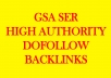 200k High Quality GSA SER Backlinks for Multi-Tiered link Building
