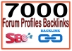 Create 7000 Forum profiles Highly Authorized Google Dominating Backlinks