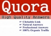 High Quality 10 Quora Answers Backlinks
