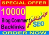 10,000 GSA Blog Comments Backlinks for Google SEO
