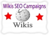 Wikis SEO  campaigns-300 .edu .-5000 Wiki Article Submission