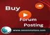 I Provide Manually 20 Forum Posting To Your Website