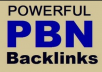 Do 10 High TF CF Permanent Homepage PBN Backlinks