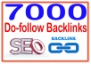 Rank on Google Alexa by exclusive 7000 Do follow  Backlinks