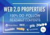 Boost your SERP by Creating 12 WEB 2.0 Properties in High Authority Platforms