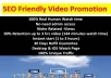 SEO Friendly Video Promotion with best quality and fast delivery
