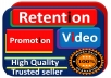 SEO Friendly 1000 + Video Promotion with best quality and fast delivery