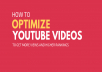 """""""Free SEO Audit""""   Channel & Then Order For Video Ranking and Promotion"""