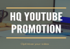 High Rank REAL Youtube Promotion of your video