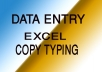 Professional Data Entry work and Copy Paste Typing Work