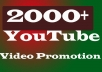 Quick Delivery YouTube Video Marketing & Promotion In 8-10H
