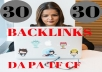 Make backlinks from High DA- Domains- your Google RANKINGS