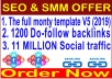 SEO campaigns 2019-The full monty template V5-1200 Do-follow backlinks- 11 Million Social traffic