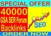 Rank your website 1 in Google- Create 40000 GSA SER Forum Backlinks