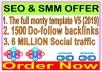 Indexer SEO Package- SEnuke - The full monty template V5-1500 Do-follow backlinks-Promotion 6 Million social People
