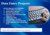 Virtual Assistant with all type of Data Entry