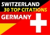 Do Best 30 Local Citation for Switzerland and Germany