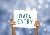 Data entry, Copy paste, Excel work.