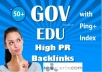 Make 50 Edu and Gov Redirect Backlinks PR10 to PR5 with Ping+Index+RSS Feed For SEO