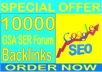 Rank SEO- 10,000 GSA SER Forum  Backlinks increase your ranking in Google search results