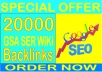 Super SEO- 10,000 GSA SER WiKi  Backlinks increase your ranking in Google search results